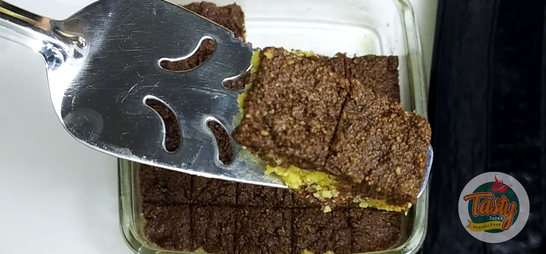 chocolate burfi step 10